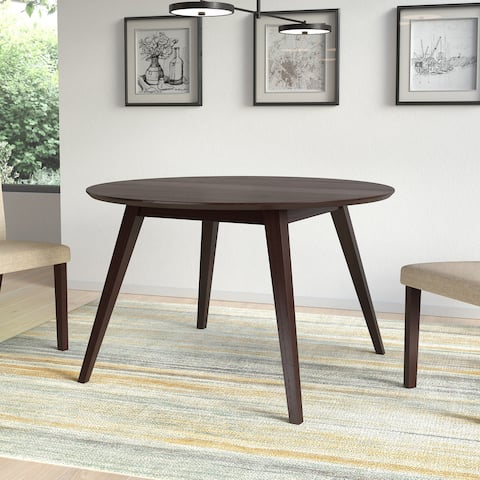 Atwood 47in Round Cappuccino Stained Dining Table