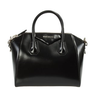 Givenchy Antigona Small Glazed Black Leather Satchel Handbag