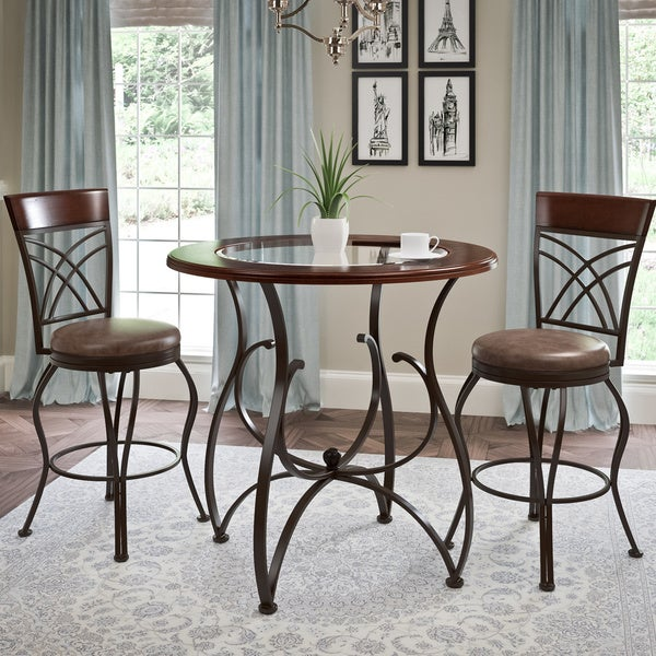 Bar Table Sets For Sale: Shop Copper Grove Mursko 3-piece Counter-height Glossy