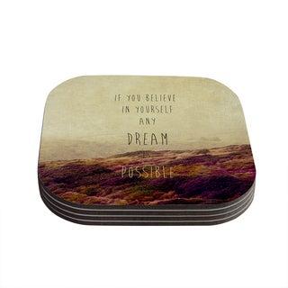 Kess InHouse Ingrid Beddoes 'Believe' Desert Quote Coasters (Set of 4)