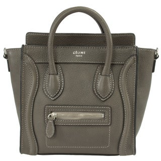 Celine Nano Grey Leather Tote Bag