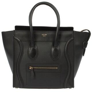 Celine Micro Black Calfskin Handbag
