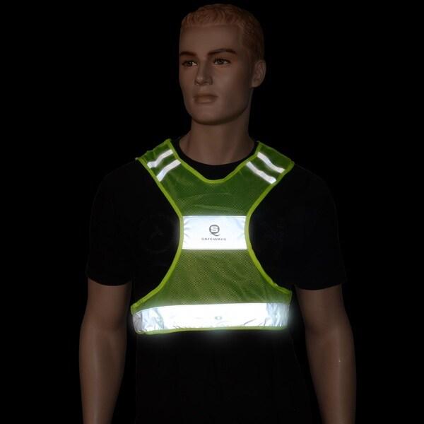 Safeways Neon Yellow LED Runner Vest