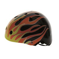 Ventura Black Flames Freestyle Helmet L (58-61 cm)