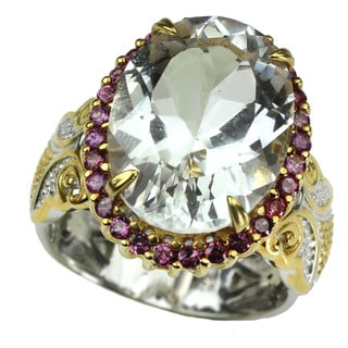 Michael Valitutti Arkansas White Quartz with Pink Sapphire Ring
