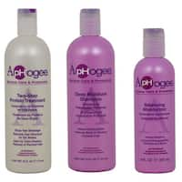 ApHogee Two-Step Protein Treatment, Deep Moisture Shampoo and Balancing Moisturizer Three-piece Set