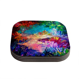 Kess InHouse Ebi Emporium 'Welcome to Utopia' Rainbow Coasters (Set of 4)
