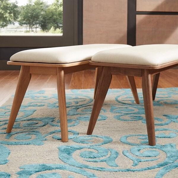 penelope danish modern upholstered dining bench inspire q modern