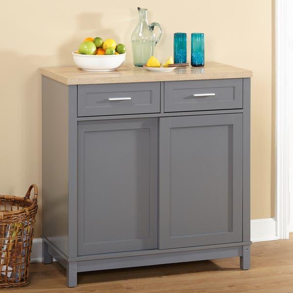 Simple Living Kennedy Sliding Doors Kitchen Cabinet