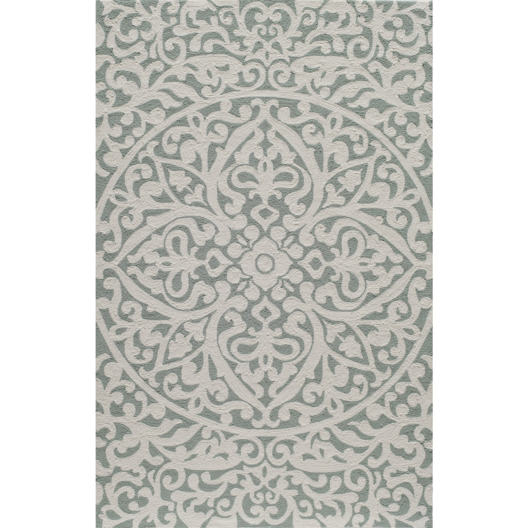 Momeni Veranda Blue Medallion Scroll Indoor Outdoor Rug 8 X 10