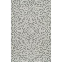 Momeni Veranda Blue Medallion Scroll Indoor/Outdoor Rug (8' X 10') - 8 'x 10'