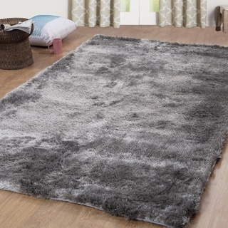 Affinity Home Silken Boston Shag Silver Area Rug (5' x 8')