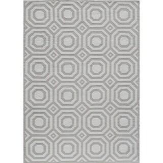 Softique Reno Grey Hand-Tufted Rug (5' x 7')