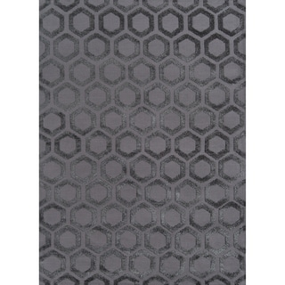 Hand-Tufted Softique Clovis Hand-Tufted Polyester Rug (7'6 x 9'6)