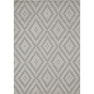 Softique Emerson Steel Hand-Tufted Rug (5' x 7')
