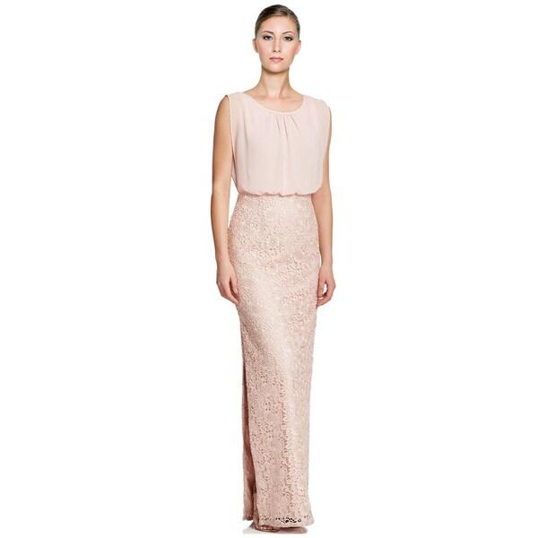 9fe35a361ee Shop Aidan Mattox Lace Chiffon Blouson Long Evening Gown Dress Size ...