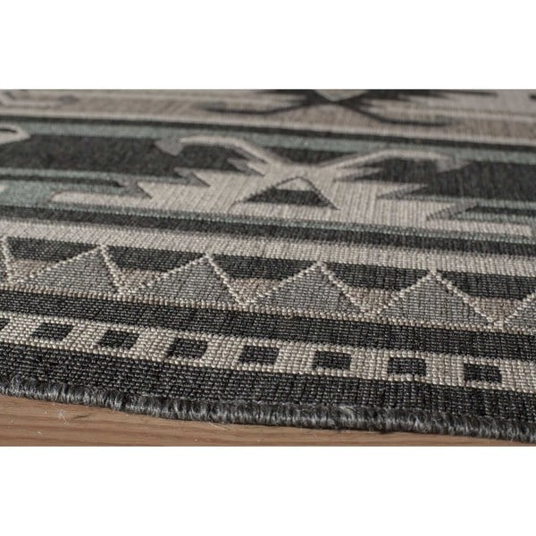 "Momeni Baja Canyon Sage Indoor/Outdoor Area Rug - 6'7"" x 9'6"""