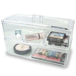 Ikee Design 2-layer Clear Acrylic Cosmetic And Jewelry Organizer With 6 compartments