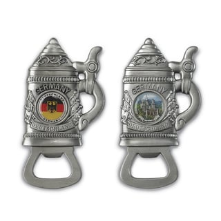 Versil Set of 2 Beer Stein-shaped Bottle Openers