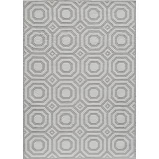 Hand-Tufted Softique Reno Grey Polyester Rug (2' x 3')