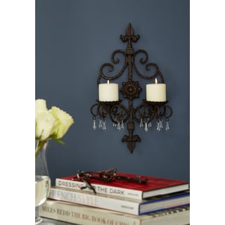 Contemporary Iron Candle Wall Sconce