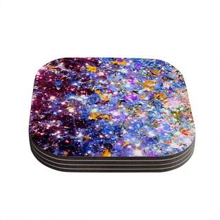 Kess InHouse Ebi Emporium 'Midnight Serenade' Blue Purple Coasters (Set of 4)