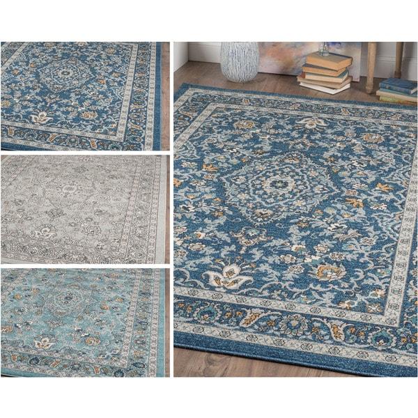 Sears Area Rugs 5x8: Alise Rugs Kinsley Blue/Grey Area Rug (5'3 X 7'3)