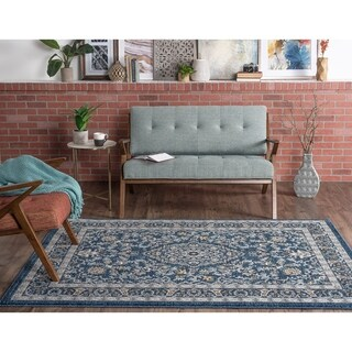Alise Rugs Kinsley Blue/Grey Area Rug - 5'3 x 7'3
