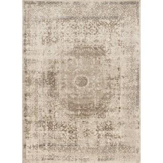 Kendrick Taupe/ Sand Medallion Rug (2'7 x 4')