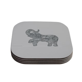 Kess InHouse Belinda Gillies 'Elephant' Coasters (Set of 4)