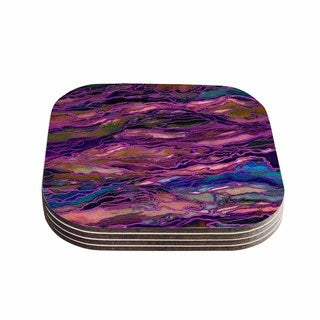 Kess InHouse Ebi Emporium 'Marble Idea! - Rich Jewel Tone' Purple Pink Coasters (Set of 4)