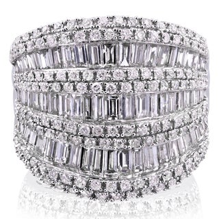Annello by Kobelli 10k White Gold 2 1/2ct TDW Round and Baguette Diamond Wide Anniversary Ring|https://ak1.ostkcdn.com/images/products/11808557/P18716585.jpg?_ostk_perf_=percv&impolicy=medium