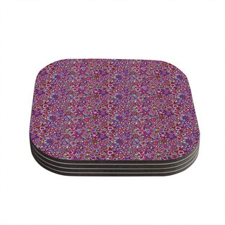 Kess InHouse Julia Grifol 'My Dreams in Color' Pink Stars Coasters (Set of 4)