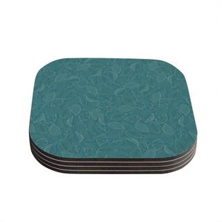 Kess InHouse Emma Frances 'Autumn Leaves' Coasters (Set of 4)