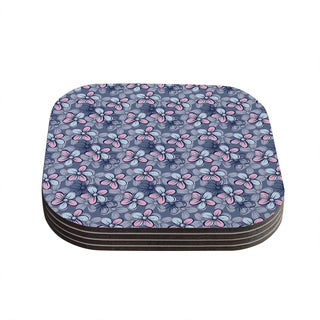 Kess InHouse Emma Frances 'Flower Clusters' Coasters (Set of 4)