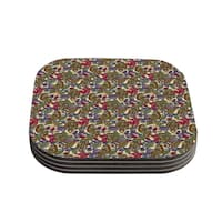Kess InHouse Julia Grifol 'My Boobooks Owls' Coasters (Set of 4)