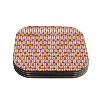 Kess InHouse Julia Grifol 'Happy Circles' Coasters (Set of 4)