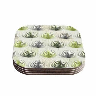 Kess InHouse Julia Grifol 'My Holidays Time' Green Coasters (Set of 4)