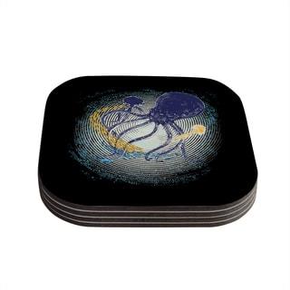 Kess InHouse Frederic Levy-Hadida 'Tentacular Trap' Octopus Coasters (Set of 4)