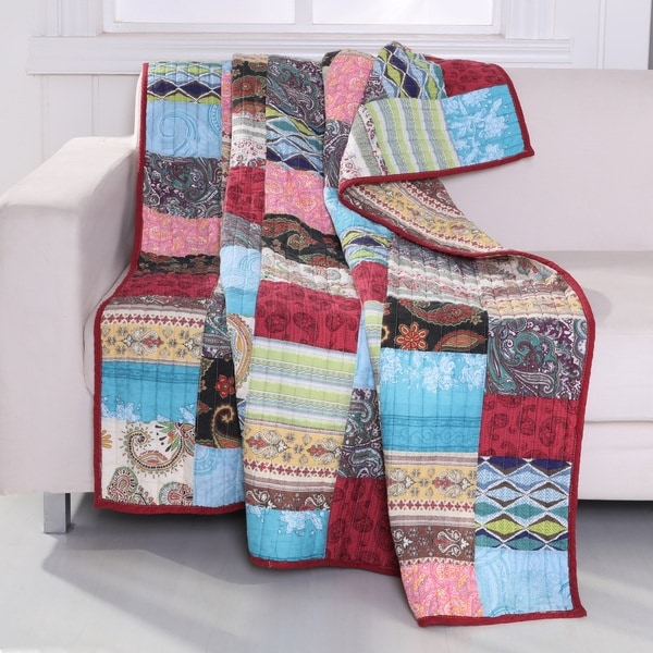 Bohemian Dream Authentic Patchwork Throw Quilt
