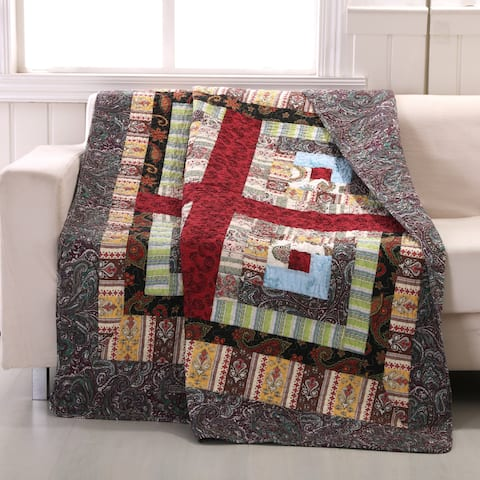 Colorado Lodge Authentic Patchwork Throw Quilt
