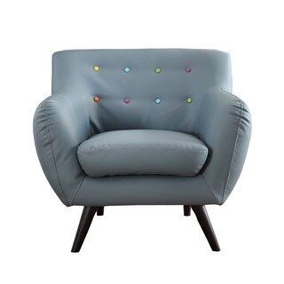 Mid Century Modern Bonded Leather Accent Chair