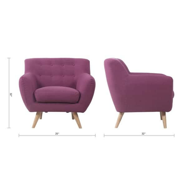 Fantastic Shop Mid Century Modern Tufted Linen Fabric Accent Chair Gmtry Best Dining Table And Chair Ideas Images Gmtryco