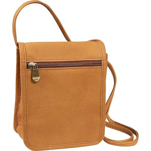 LeDonne Leather Mini Flap-over Crossbody Handbag