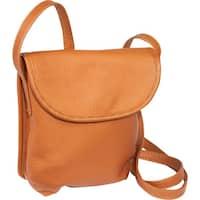 LeDonne Magnetic Flap Leather Mini Crossbody Handbag
