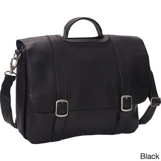 LeDonne 15.4-inch Classic Leather Laptop Briefcase
