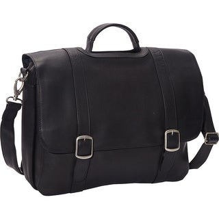 LeDonne 15.4-inch Classic Leather Laptop Briefcase