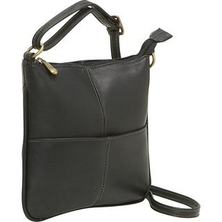 LeDonne Leather Mini Front Pocket Crossbody Handbag