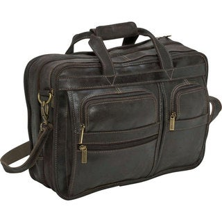 LeDonne Leather Distressed Leather Multi-function Briefcase