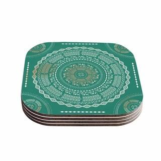 Kess InHouse Famenxt 'Mint Medallion' Mint Pattern Coasters (Set of 4)